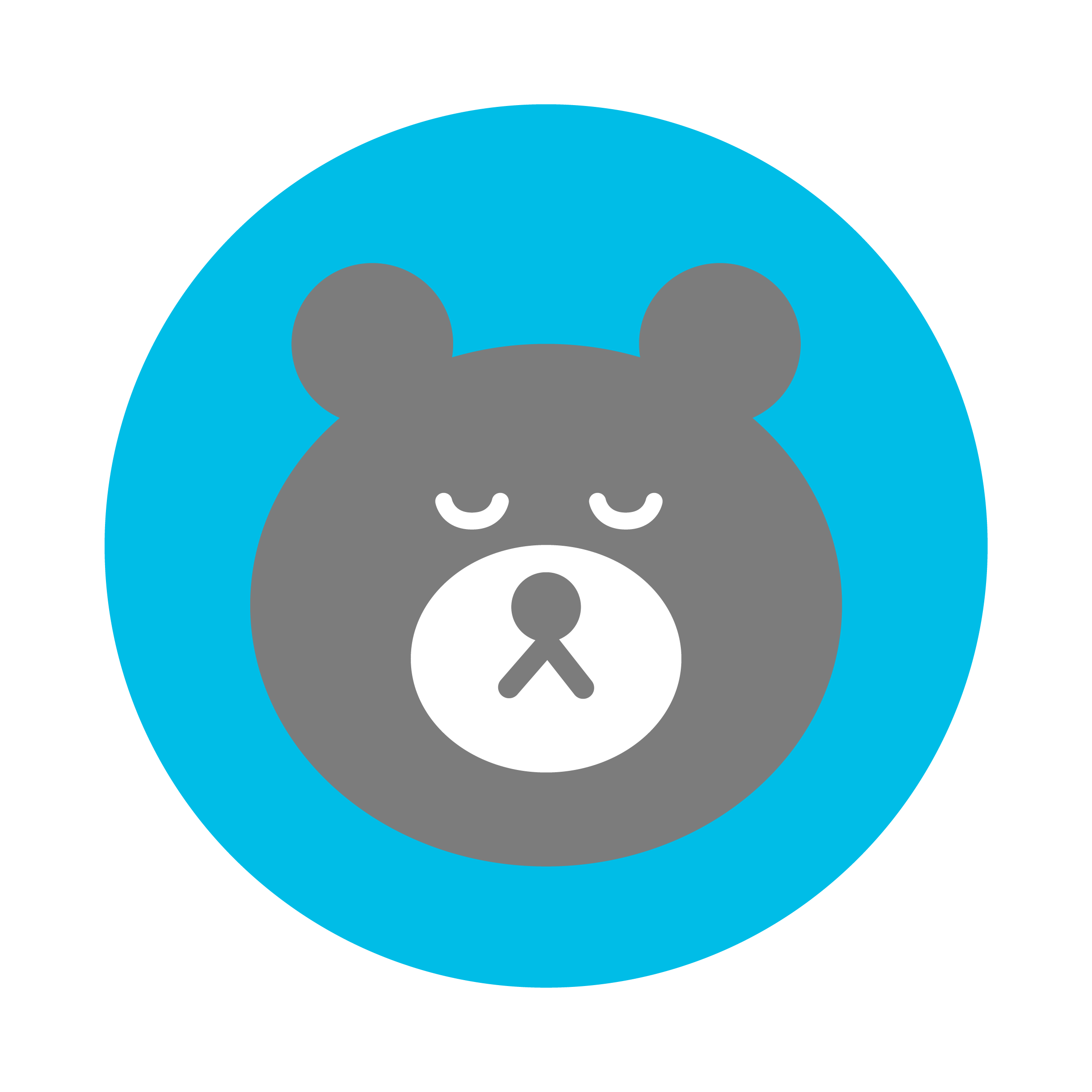 sleeping bear, indicating chat is offline