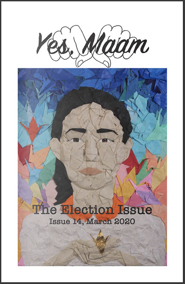 zine cover: textile indigenous person