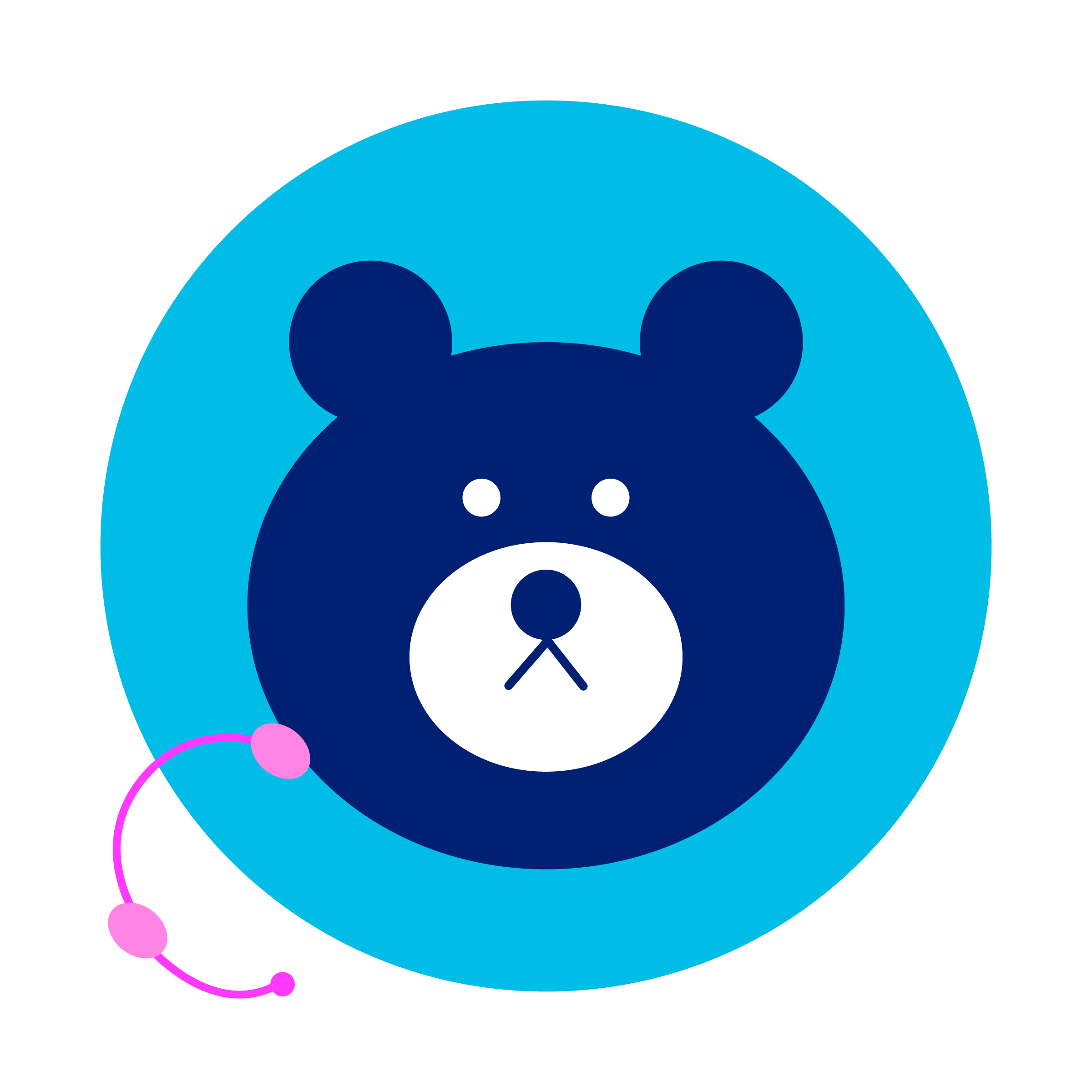 bear with headset off
