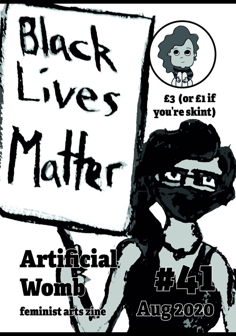 zine cover: person holding Black Lives Matter sign