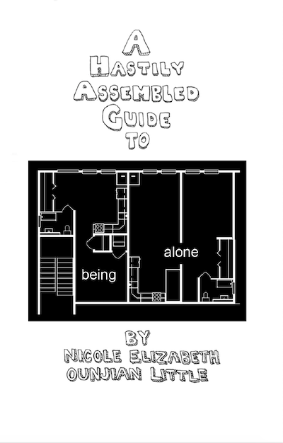 zine cover: black apartment floor plan