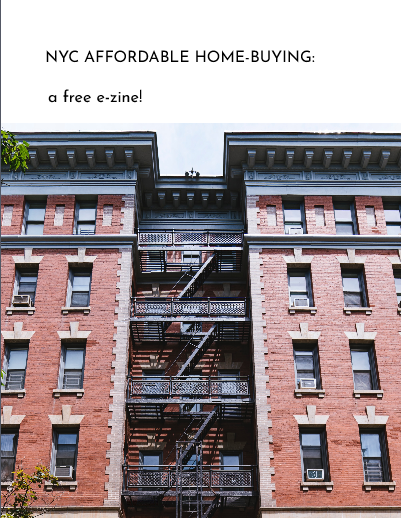 zine cover: title in the sky over NYC apartments