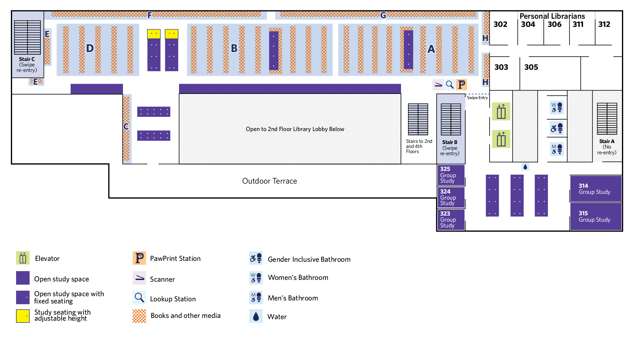 map of floor level 3, please use text-only guide for an accessible version
