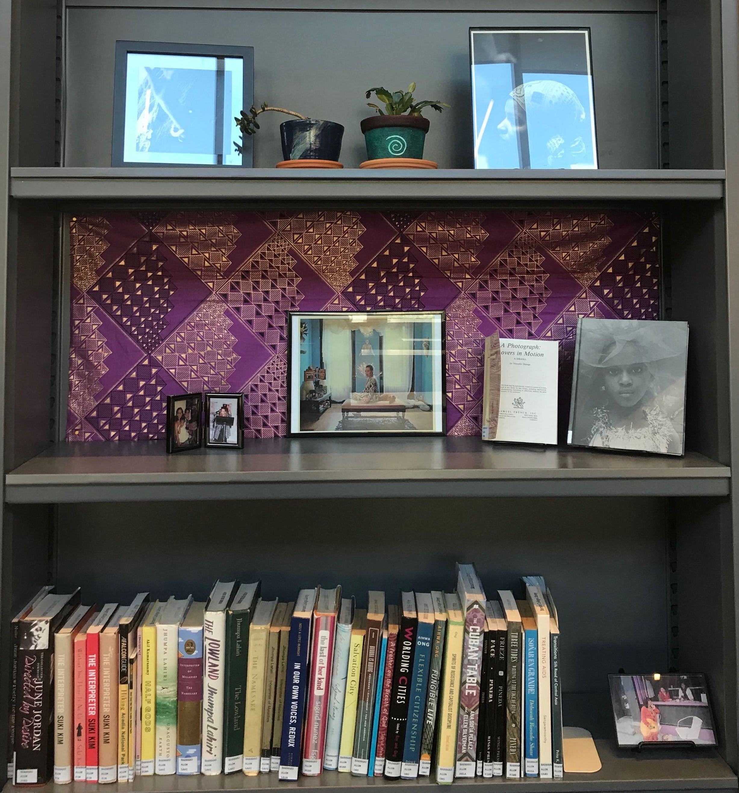 Books on display by BIPOC alums