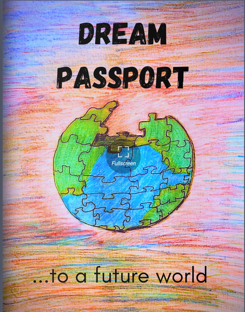 zine cover: Dream Passport zine
